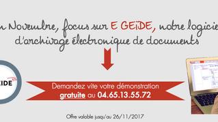[Offre commerciale] En novembre : focus sur E GEIDE