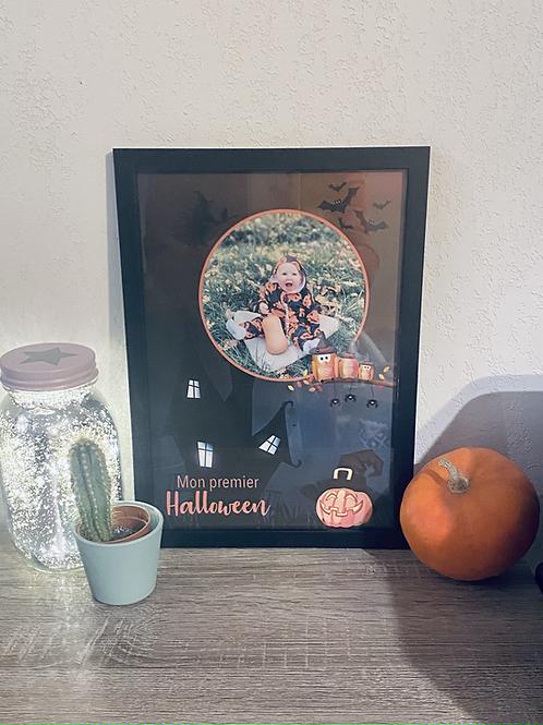"""Affiche personnalisée """"mon premier Halloween"""""""