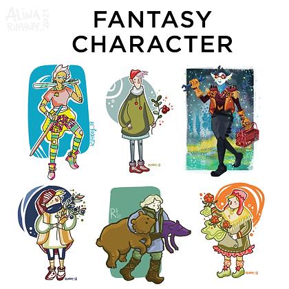 Full Height Fantasy (D&D, TRPG) character
