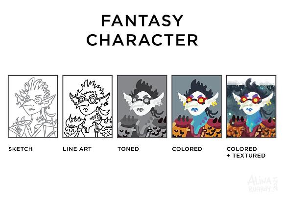 Fantasy (D&D, TRPG) character's portrait