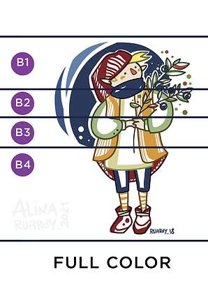 (type B) Character illustration