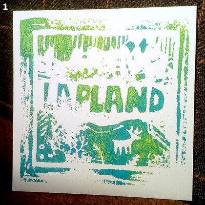 Lapland linocut print
