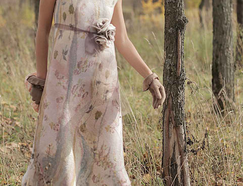 """Dress """" The Milky Rivers"""" with Instructions"""