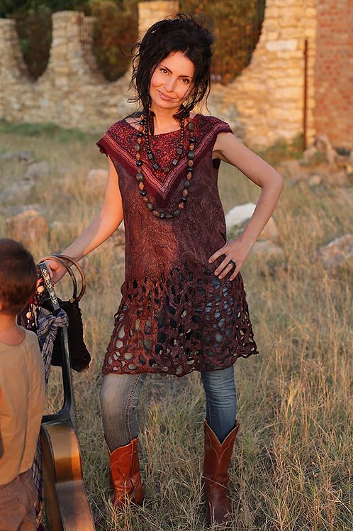"Size L-XL. ""Gypsy Soul"" Tunic Dress"