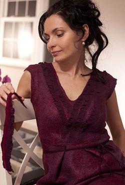red wine dress 4
