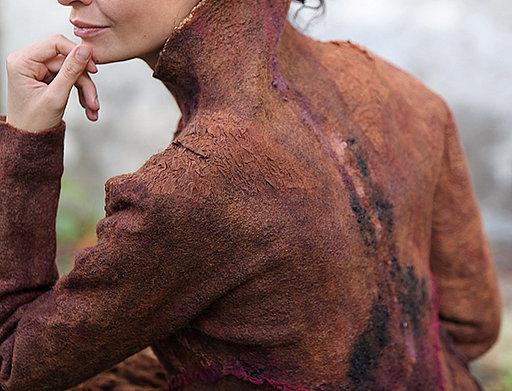 """Jacket in adobe color """"Kievskie Kanikuly"""""""