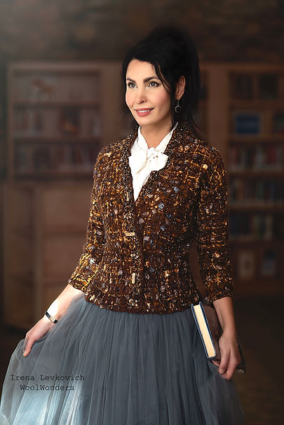 tweed felted jacket by Irena Levkovich