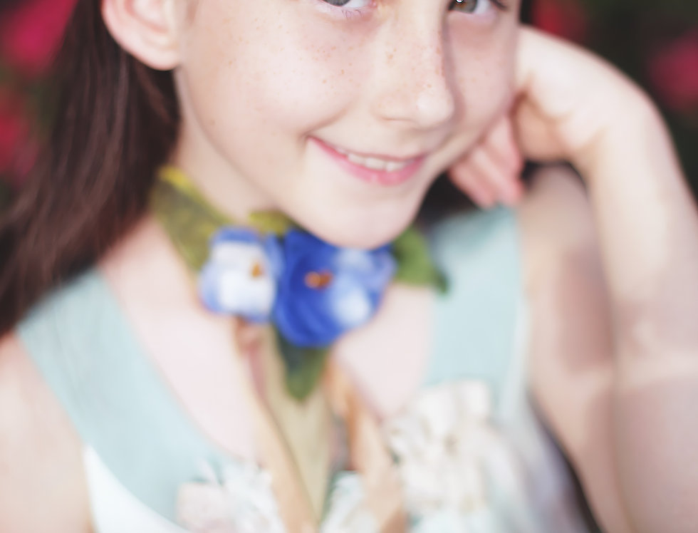"June 23 Summer Camp ""Blue Flowers Bouquet"" On line class Webinars"