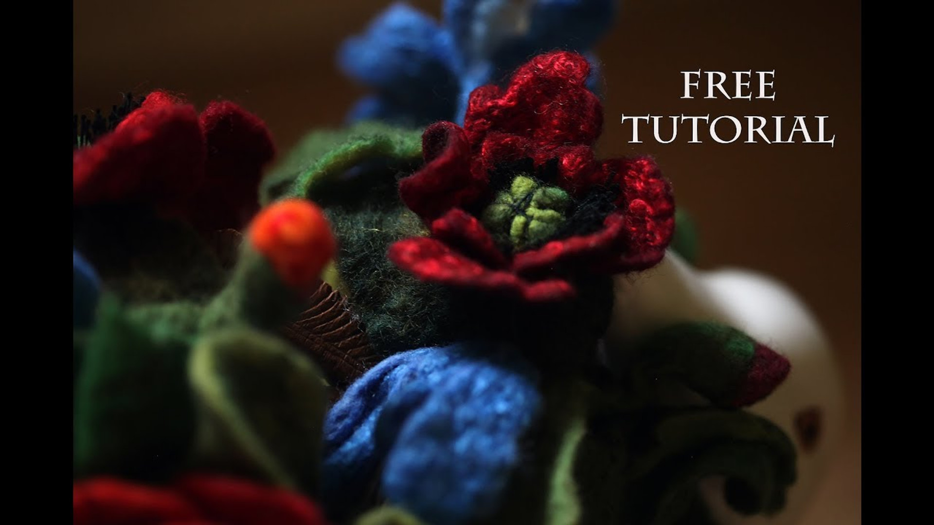 Video Tutorial How-To Make Nice Felted Roses
