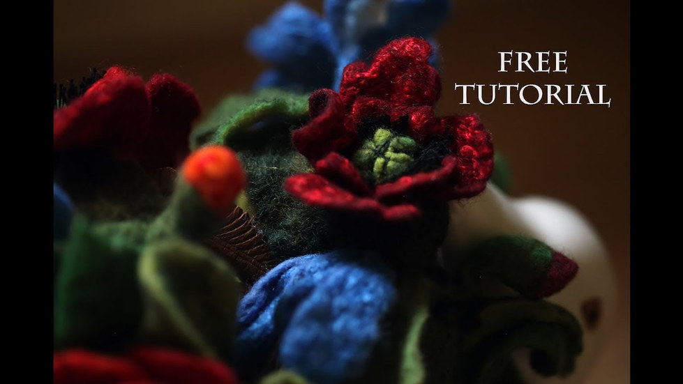 Video Tutorial How-To Make Nice Felted Poppy Flowers