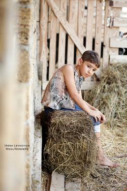 _CowBoy _ CowGirl_ kids felted Vest