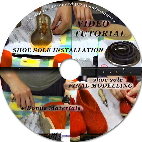 """Video tutorial """"Sole Installation on felted Shoes"""