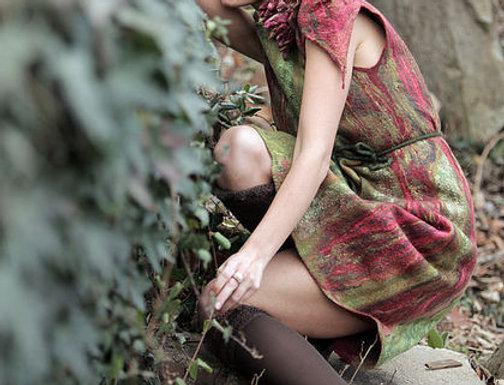 """Dress pattern for felting """"Lotus Flower"""" & Inst."""