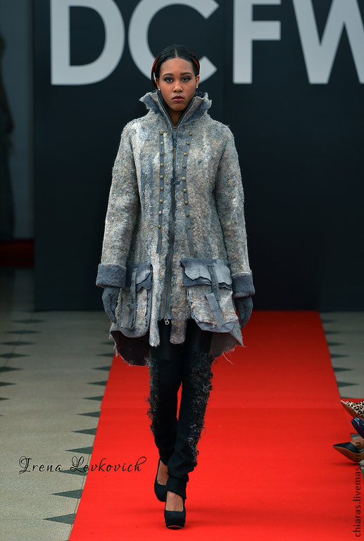 Felted Coat Template _Resistance_ DC FASHION WEEK 2015. For felting with instructions.2