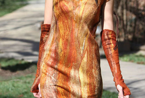 "Size M-L. Will Send You ""Rivers of Sun"" Dress"