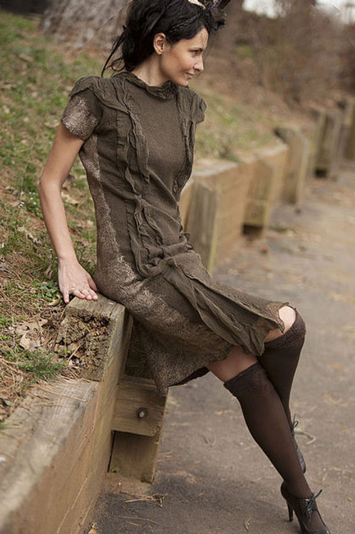 """Size S-M. """"Taupe"""" Dress"""