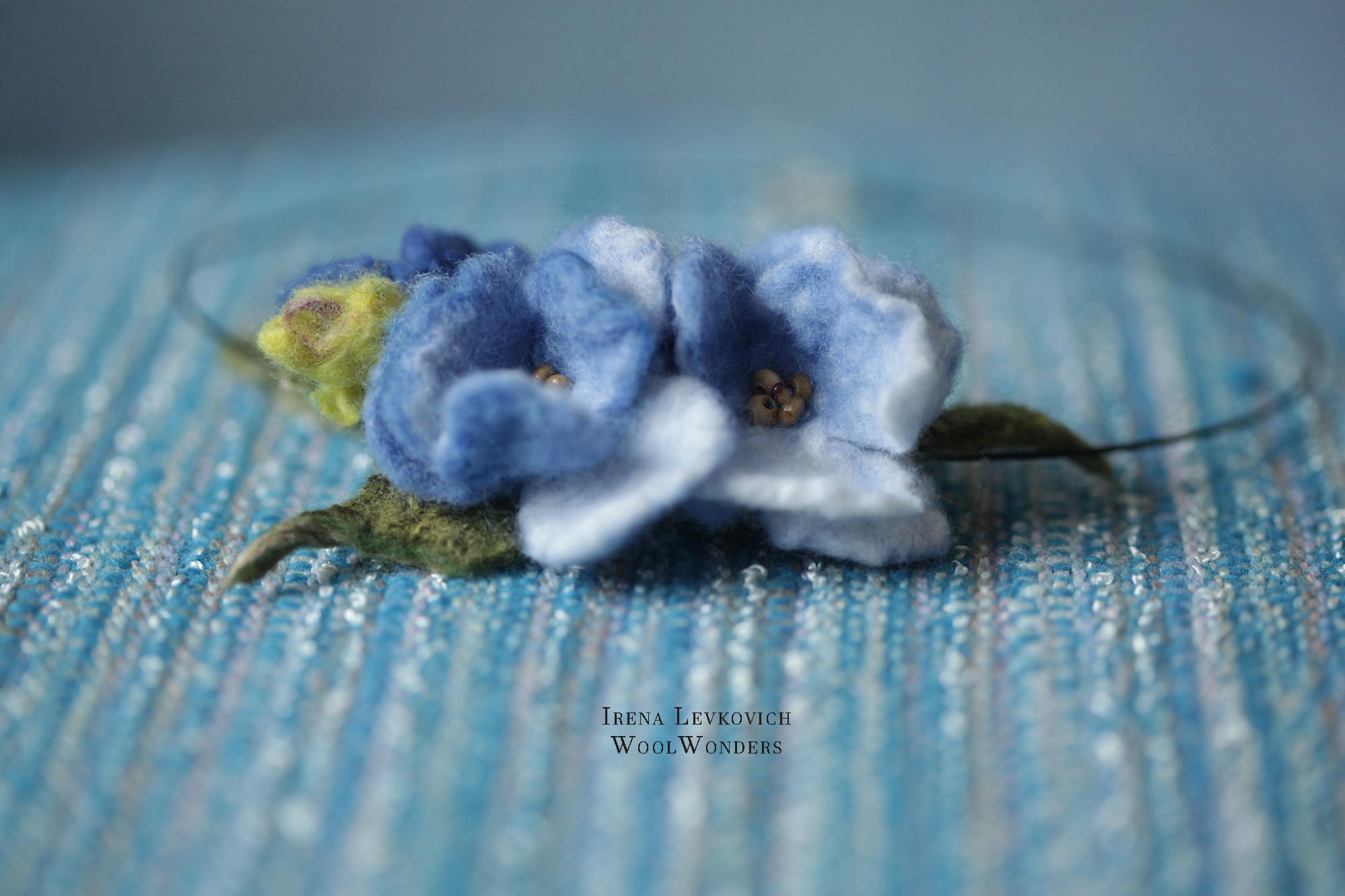 NECKLACE BLUE _Le petit bouquet pour elle_