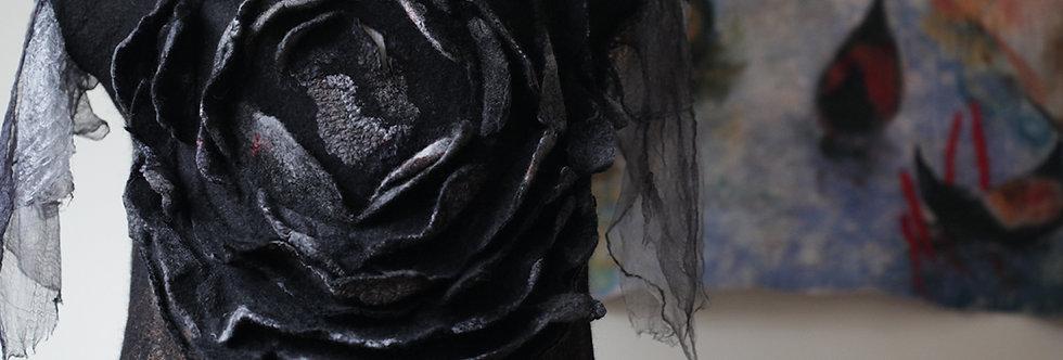"""Урок """"Платье на шелке с 3Д дек-ым элементом""""+5 увеличен.выкроек"""