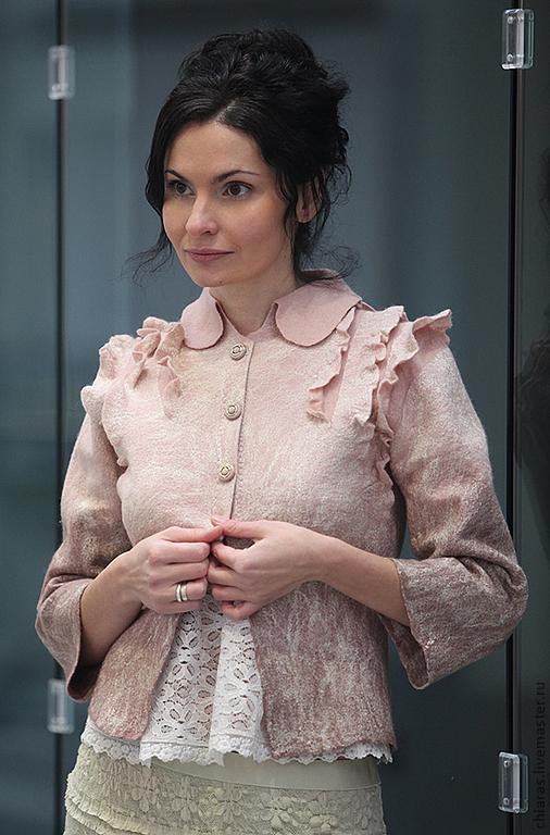 felted jacket Parisian by Irena Levkovich
