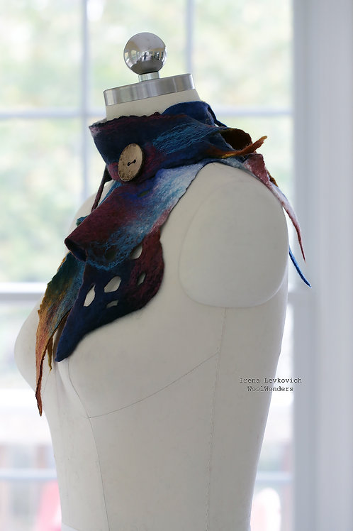 """Art Scarf """"Color Theraphy""""Blue"""