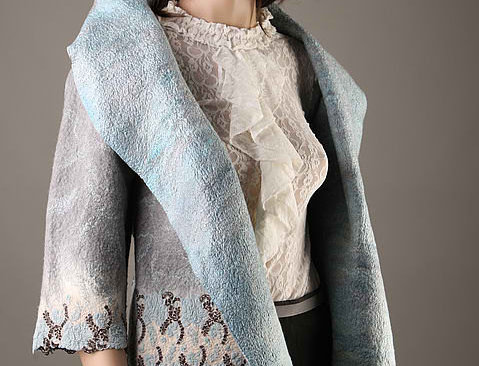 """Felted Jacket Template """"BLUES"""". With Instructions"""