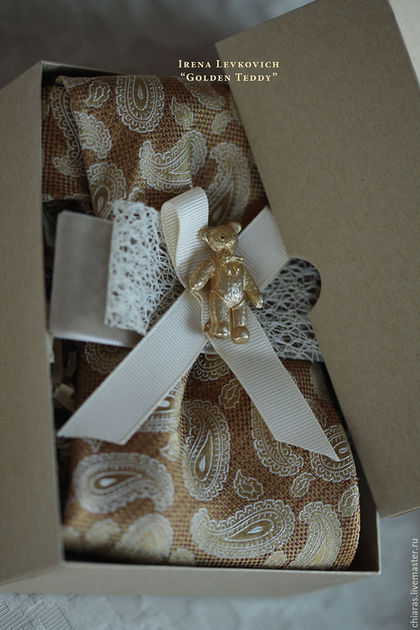 WOMEN TIE 'Golden Teddy'