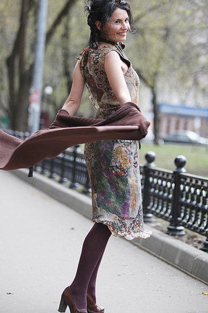 "Size M-L.  ""Megapolis Romantic"" Dress"