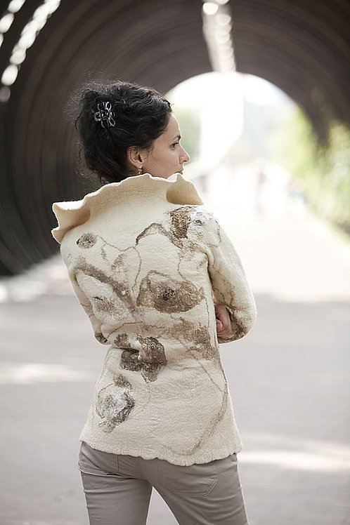"Size L-XL. ""Herbarium.Poppy Flowers"" Jacket Template"