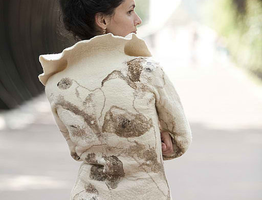 "Size M-L. ""Herbarium.Poppy Flowers"" Jacket Template"