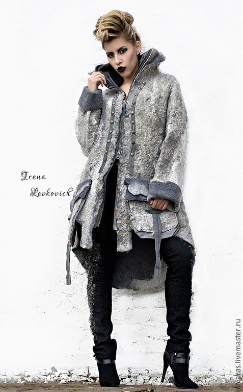 Felted Coat Template _Resistance_ DC FASHION WEEK 2015. For felting with instructions