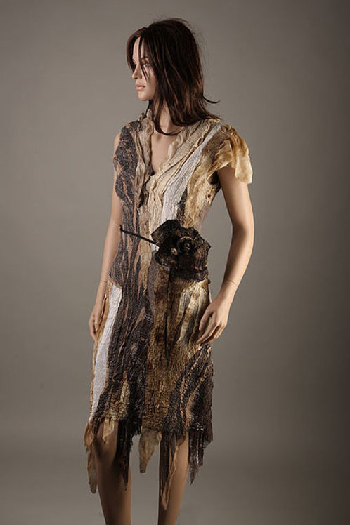 """Dress pattern for felting """"Tobacco Fall""""  & Inst."""