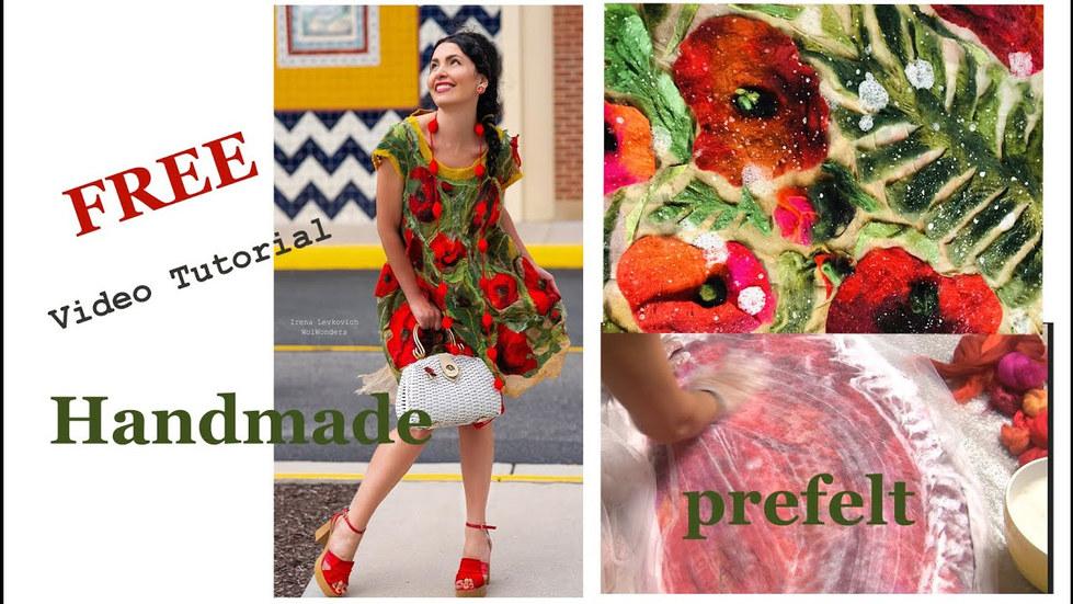 HandMade PREFELT Poppy flowers free video tutorial