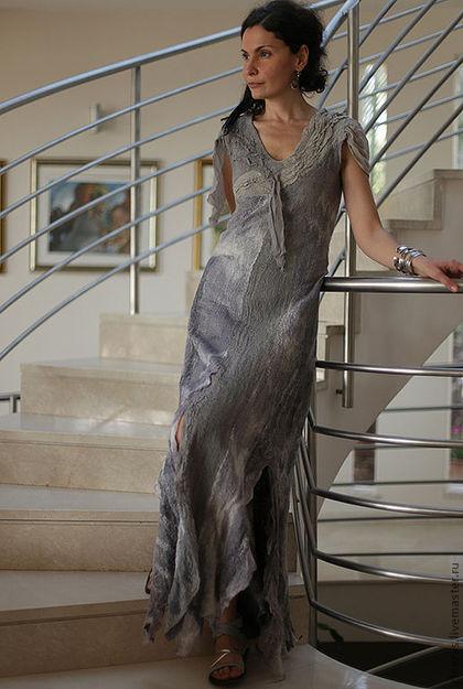 Long Grey Dress 4