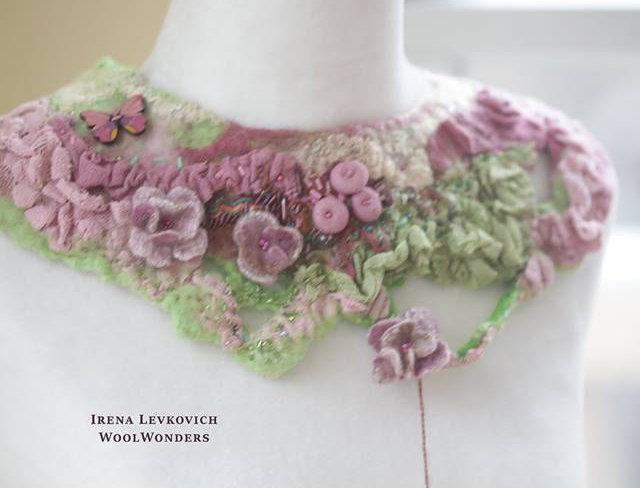 "Art Collar ""Spring Time"""