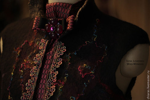 Jacket from wool&silk 'At the Carnival in Venice!'