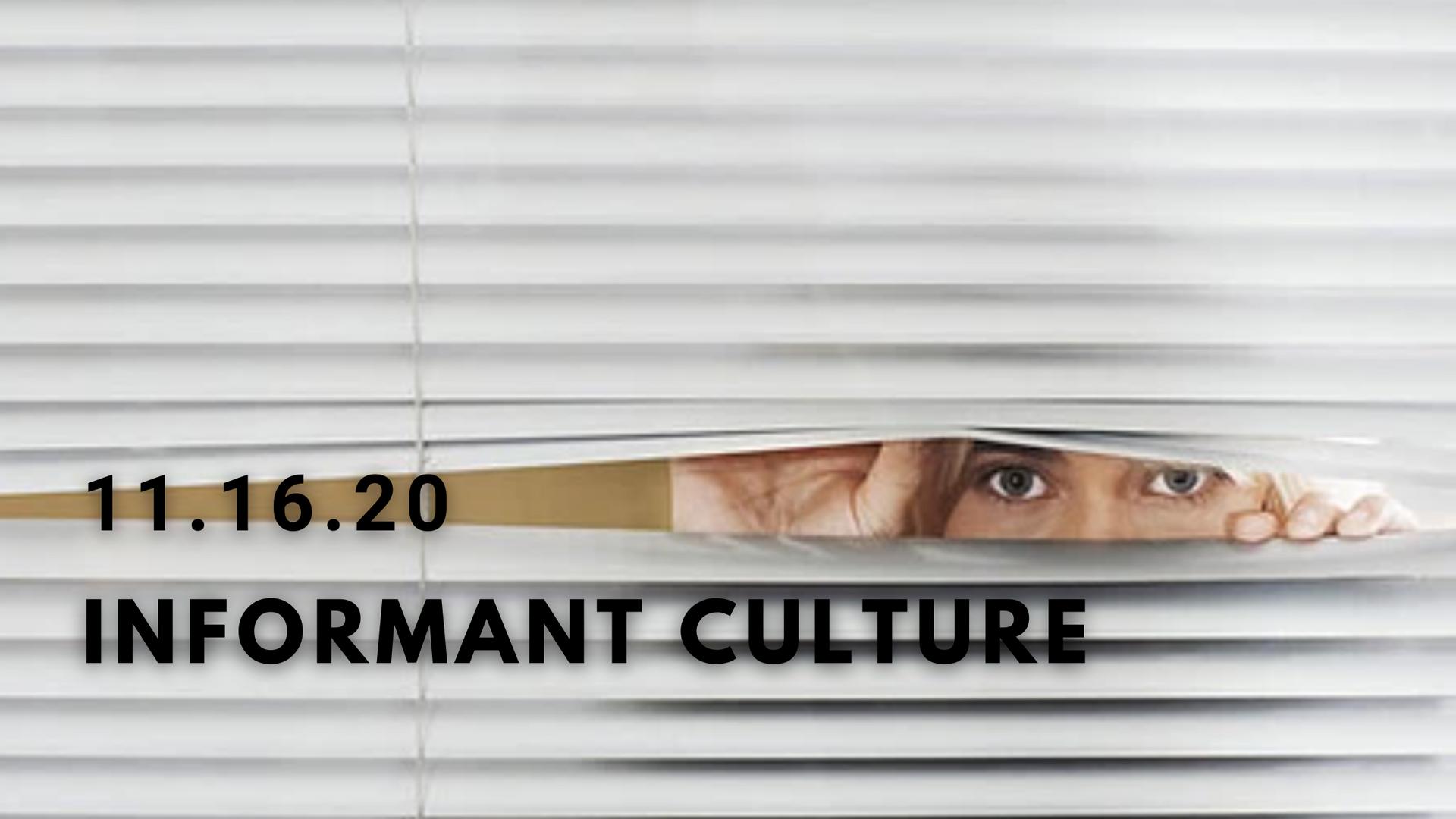 Informant Culture