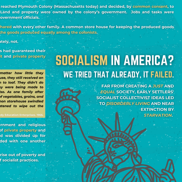 Socialism in America? We tried that already, it failed.