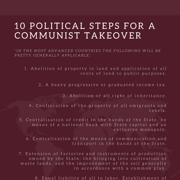 10 Political Steps for a Communist Takeover