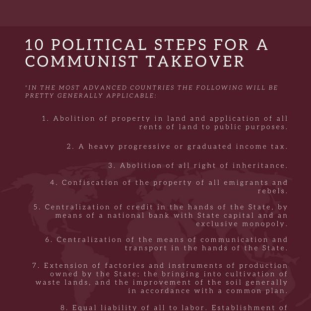 10 Political Steps for a Communist Takeover