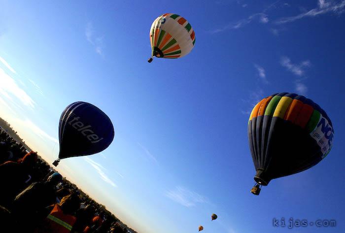 Kijas Hot Air Balloon Blue Sky