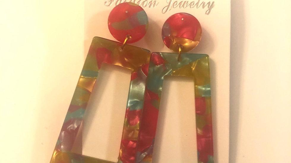Hadassah Beauty Tropical Geometry Earrings