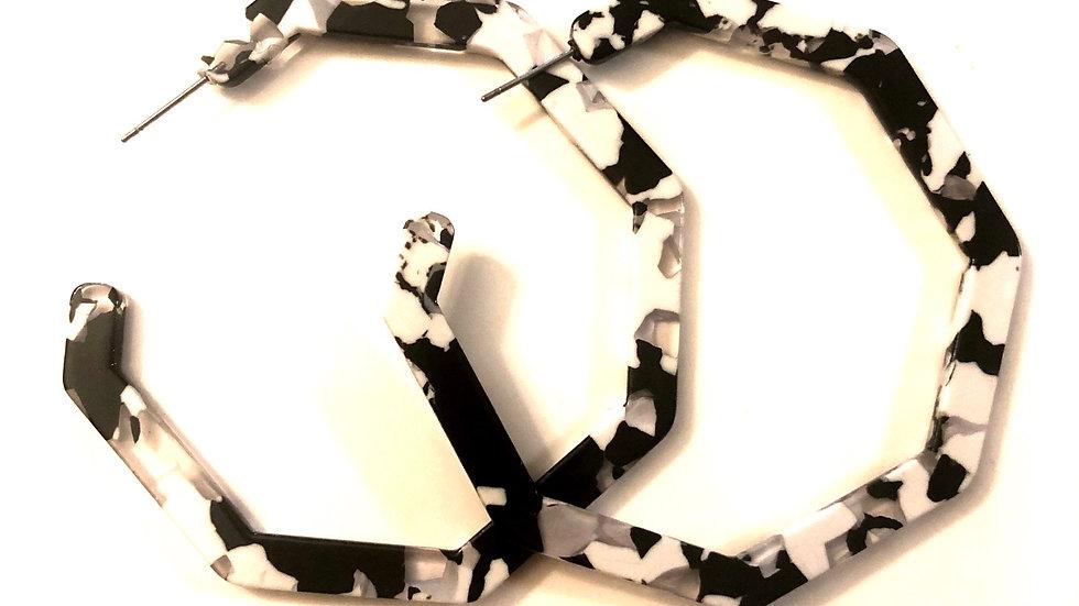 Hadassah Beauty Zebra Unique Earrings