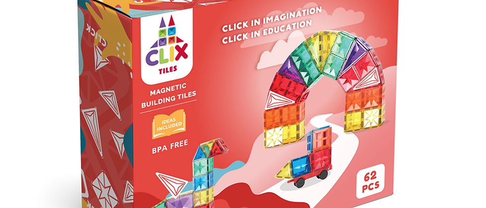 CLIX 62 pcs magnetic building blocks