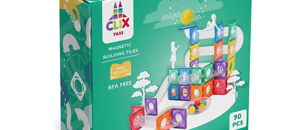 Clix ball run 90 pcs magnetic building blocks