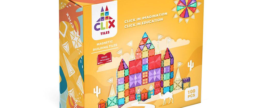 Clix Tiles magnetic building blocks 100 pcs