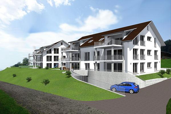 Visulaisation der Mehrfamilienhäuser Rautiblick