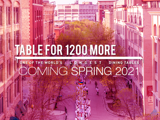 Table For 1200 More Coming Spring 2021!