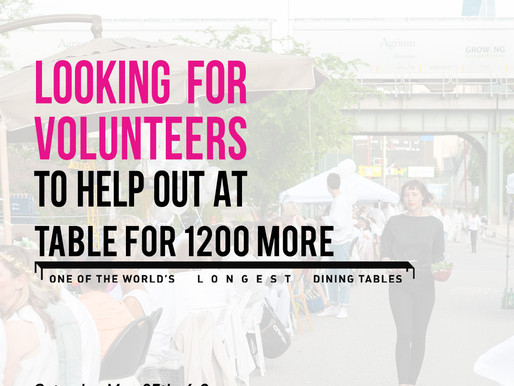 TableFor1200More Volunteer Opportunity!