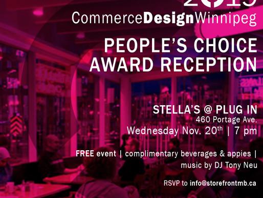 CommerceDesignWinnipeg People's Choice Reception!