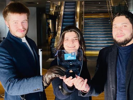 Hdrones reçoit l'Award de la meilleure innovation de drone de livraison